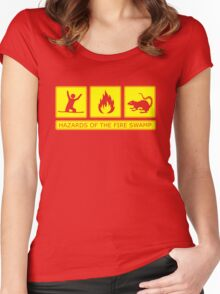 Hazards of the Fire Swamp Women's Fitted Scoop T-Shirt