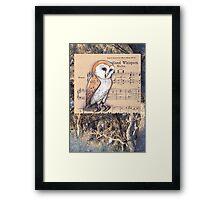 Woodland Whispers - Barn Owl Framed Print