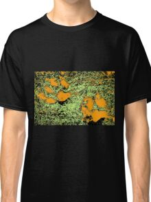 Paw Prints in Orange, Lime and Black Classic T-Shirt