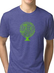 Earth Day Tree Funny Logo Tri-blend T-Shirt