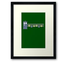 The song of the tardis Framed Print