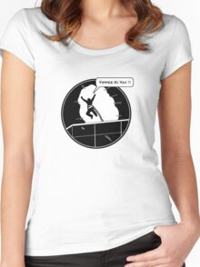 Yippee Ki Yay - with speech bubble Women's Fitted Scoop T-Shirt