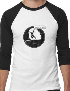 Yippee Ki Yay - with speech bubble Men's Baseball ¾ T-Shirt