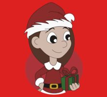 Christmas girl cartoon Kids Tee