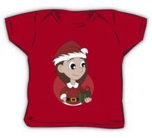 Christmas girl cartoon Baby Tee
