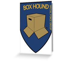 BOX HOUND SPECIAL FORCE - METAL GEAR SOLID Greeting Card