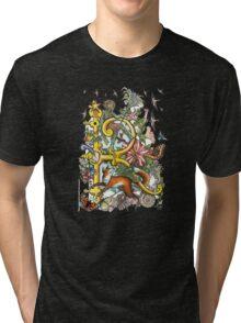 "MYSTICMATRIX The Illustrated Alphabet Capital  R  ""Getting personal""  Tri-blend T-Shirt"