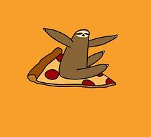 Sloth Riding a Pizza Unisex T-Shirt