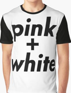 pink and white Graphic T-Shirt