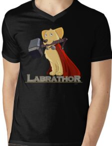 Labrathor Mens V-Neck T-Shirt