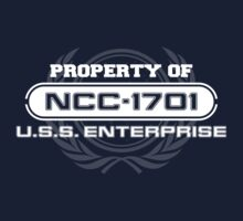 Vintage Property of NCC1701 by justinglen75