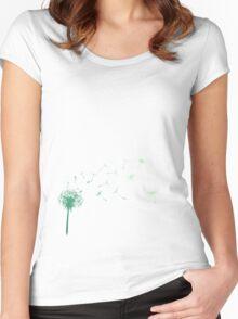 Mint dandelion Women's Fitted Scoop T-Shirt