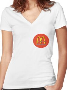 madonna's  (mcDonalds) Women's Fitted V-Neck T-Shirt