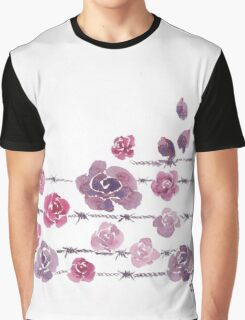 Barbed Roses Graphic T-Shirt