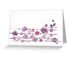 Barbed Roses Greeting Card