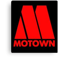 MOTOWN DISCO RECORDS (RED) Canvas Print