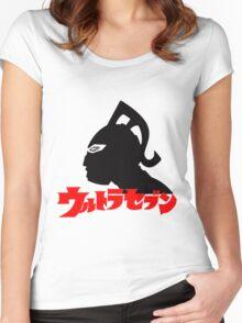 ULTRA SEVEN ULTRAMAN 7 JAPAN SUPERHERO Women's Fitted Scoop T-Shirt