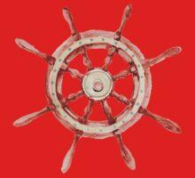 Watercolor wood wheel One Piece - Short Sleeve