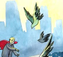 Average Heroes: The Pigeon Whisperer Sticker