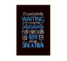 Hamilton Musical Quote. I'm past... Art Print