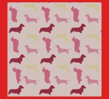 """Cotton Candy"" Dachshund Pattern Baby Tee"