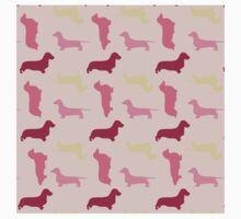 """Cotton Candy"" Dachshund Pattern Kids Tee"