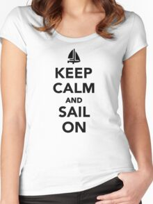 Keep calm and sail on Women's Fitted Scoop T-Shirt
