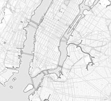 New York City sketch map Sticker