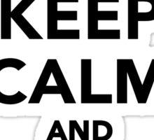 Keep calm and Ski on Sticker