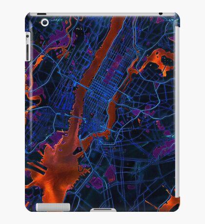 New York City Dark Map iPad Case/Skin