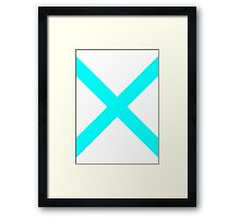 Blue X Framed Print