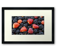 Mixed berries Framed Print