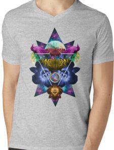 GalacticNature Mens V-Neck T-Shirt