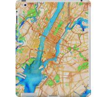 New York City Oily Watercolor Map iPad Case/Skin