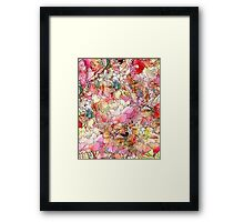 Colorful Watercolor Floral Pattern Abstract Sketch Framed Print