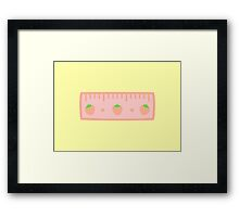 Cute ruler Framed Print