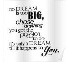 """No Dream is too Big""   G-Eazy Lyric Poster"