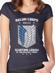RECON CORPS. - Attack on Titans Women's Fitted Scoop T-Shirt