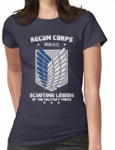 RECON CORPS. - Attack on Titans Womens Fitted T-Shirt