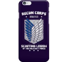 RECON CORPS. - Attack on Titans iPhone Case/Skin