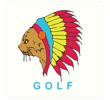 Golf Wang Native Cat Art Print