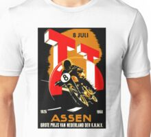 """MOTORCYCLE GRAND PRIX"" Vintage RACING Advertising Print Unisex T-Shirt"