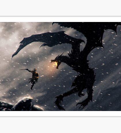Warrior slaying a dragon Sticker
