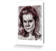 Elizabeth Montgomery Hollywood Actress Greeting Card
