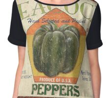 Americana Vegetables 1 Chiffon Top
