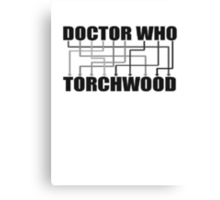 Doctor Who And Torchwood Canvas Print