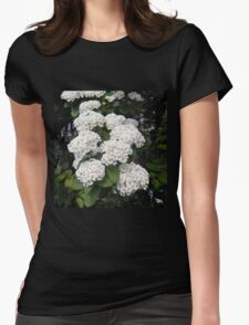 Branch of Spirea Womens Fitted T-Shirt
