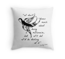 Darling at It Throw Pillow