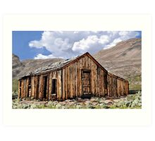 Mountain Mining Shack Art Print