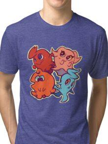 Cutie Pac-Man Ghosts Tri-blend T-Shirt